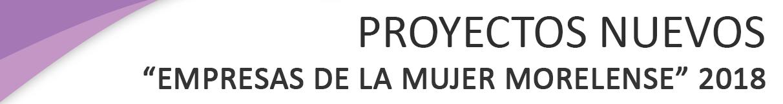 """PROGRAMA DE APOYO A PROYECTOS PRODUCTIVOS PARA JEFAS DE FAMILIA """"EMPRESAS DE LA MUJER MORELENSE"""" PARA PROYECTOS NUEVOS 2018"""